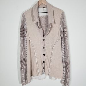 Free People Button Down Cardigan